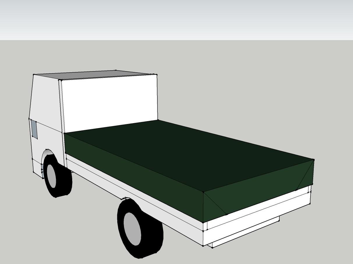 トラック荷台 平シート