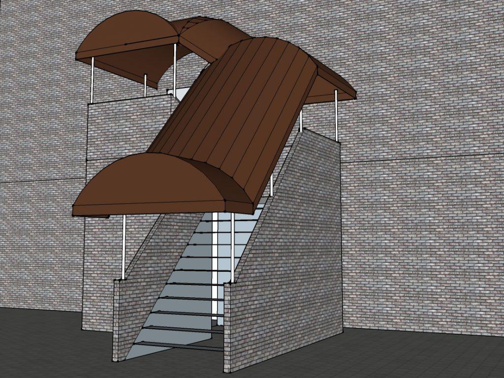 階段用テント